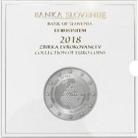 Kursmünzen Cent und Euro Slowenien 2018