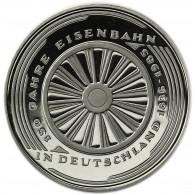 Deutschland 5 DM 1985 PP 150 Jahre Eisenbahn in Deutschland in Münzkapsel