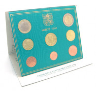 Vatikan 3,88 Euro 2013 Stgl. KMS Papst Benedikt XVI. im Folder - letzte Kursmünzen mit dem Porträt Papst Bendikt XVI