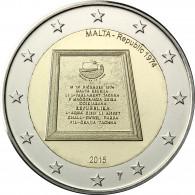 Malta 2 Euro 2015 Stgl. Parlamentarische Republik seit 1974 mit Münzmeisterzeichen
