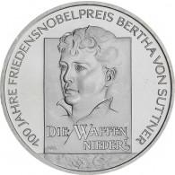 Gedenkmünze 10 Euro Bertha von Suttner 2005