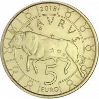 San Marino 5 Euro 2018 Sternzeichen - Stier Taurus  Zodiac Serie Sternzeichen Bronze Tierkreiszeichen
