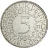 Deutschland 5 DM 1958 Mzz. J ss Silberadler J.387