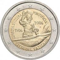 Vatikan 2 Euro Gedenkmünze  2006  Schweizer Garde im Folder