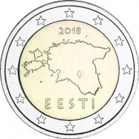 Kursmünzen Estland 2 Euro 2018 Landkarte Sondermünzen Zubehör