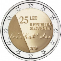 2  Euro Münze 25 Jahre Unabhängigkeit aus Slowenien