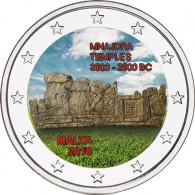 Malta 2 Euro-Gedenkmünze 2018 Mnjada mit Farb-Motiv Farbmünzen Sammlermünzen Zubehör Münzkatalog bestellen Historia Hamburg