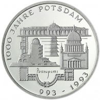 Deutschland 10 DM Silber 1993 Stgl. 1000 Jahre Potsdam