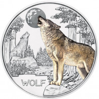 Münze Österreich Wolf 3 Euro aus Tier Taler Serie