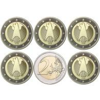 Deutschland 2 Euro 2002 bfr. Mzz.A bis J Bundesadler
