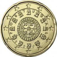 Portugal 20 Cent 2008 Kursmünze seltener Jahrgang   Siegel von Don Alfonso Henriques