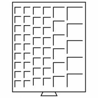 316902 - Münzbox MB mit eckigen Einteilungen rauchfarben
