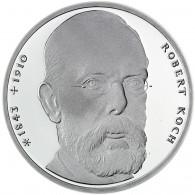 Deutschland 10 DM Silber 1993 Stgl. 150. Geburtstag von Robert Koch