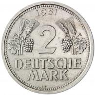 Deutschland 2 DM 1951 sehr schön Trauben und Ähren Mzz. unserer Wahl