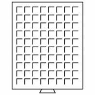 314522 -  Münzenbox MB mit eckigen Einteilungen  grau