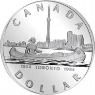 Silbermünze Dollar aus Kanada 1984