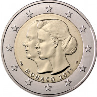 Monaco 2 Euro Sondermünze 2011 Hochzeit Albert II & Charlene