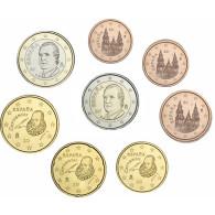 Spanien 1 Cent bis 2 Euro 2004 bfr. lose im Münzstreifen
