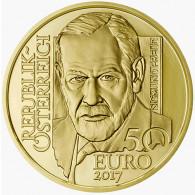 Goldmünze 50 Euro Österreich Sigmund Freud