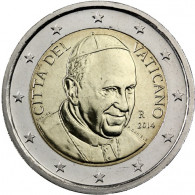 2 € Kursmünze Vatikan 2014 mit dem Motiv Papst Franziskus Gedenkmünzen Sondermünzen Münzkatalog bestellen
