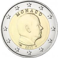 Monaco 2 Euro Kursmünze 2017  Fürst Albert II. Grimaldi