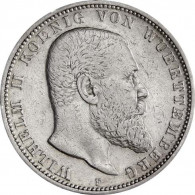 J. 176 - Württemberg 5 Mark Silber 1892-1913  Wilhelm II