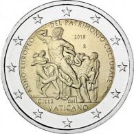 2 Euro Sondermünze 2018 aus dem Vatikan  Jahr des Kulturerbes
