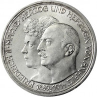 J. 24 Anhalt  3 Mark Friedrich II 1914 Silber Hochzeit  SONDERPREIS
