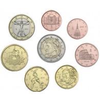 Italien 3,88 Euro 2014 bfr. 1 Cent bis 2 Euro lose im Münzstreifen