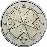 Malta 2 Euro 2014 Bankfrisch Malteser Kreuz