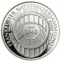 Deutschland 5 DM Silber 1973 PP Frankfurter Nationalversammlung in Münzkapsel