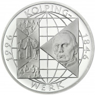 Deutschland 10 DM Silber 1996 Stgl. 150 Jahre Kolpings Werk