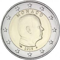 Monaco 2 Euro 2015 bfr. Fürst Albert II. Grimaldi