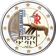 Italien 2 Euro-Gedenkmünze 2009 bfr. Braille in Farbe