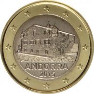 Andorra 1 Euro 2015 Kursmünze