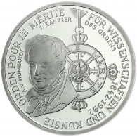 Deutschland 10 DM Silber 1992 Stgl. Orden Pour le Merite, Alexander von Humboldt