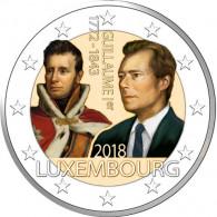 Luxemburg 2 Euro 2018 bfr. 175. Todestag Großherzog Guillaume I. in Farbe