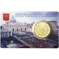50 Cent Münze 2015 Vatikan Papst Franziskus  Coincard Nr. 6
