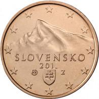 Slowakei 1 Cent 2014 bfr. Gifpel der Berges Kriva´n, Hohe Tatra