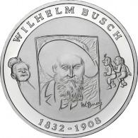 Deutschland 10 Euro Silber 2007 PP Wilhelm Busch