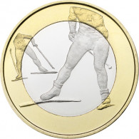 Finnland 5 Euro 2016 Cu/Ni bfr. Sport-Serie Skilanglauf