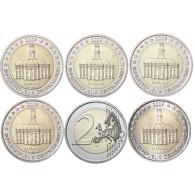 2 Euro Gedenkmünzen Bundesländer Serie Saarland Mzz. A - J