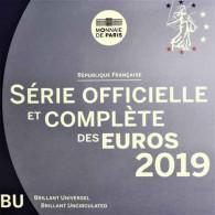 Euro Kursmünzensatz 2019 Frankreich 1 Cent bis 2 Euro im Folder Stgl.