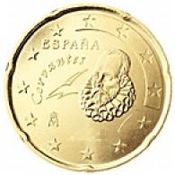 Spanien 20 Cent 2001 bfr. Miguel de Cervantes