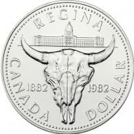 Kanada  1 Dollar 1982 Silber  Bison