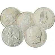 Deutschland  5 DM  - die ersten 5 Gedenkmünzen komplett in vorzüglicher Qualität