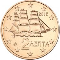 Griechenland 2 Cent 2015 bfr. griechische Korvette