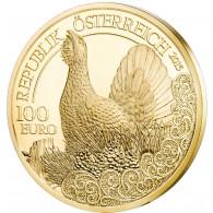 Muenze Oestereich Auerhahn gold
