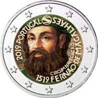 Portugal 2 Euro Sondermünzen  2019  500 J. Magellan Weltumsegelung in Farbe