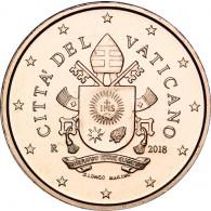 2  Euro Cent  Münzen aus dem Vatikan mit dem Papstsiegel  von Franziskus 2018